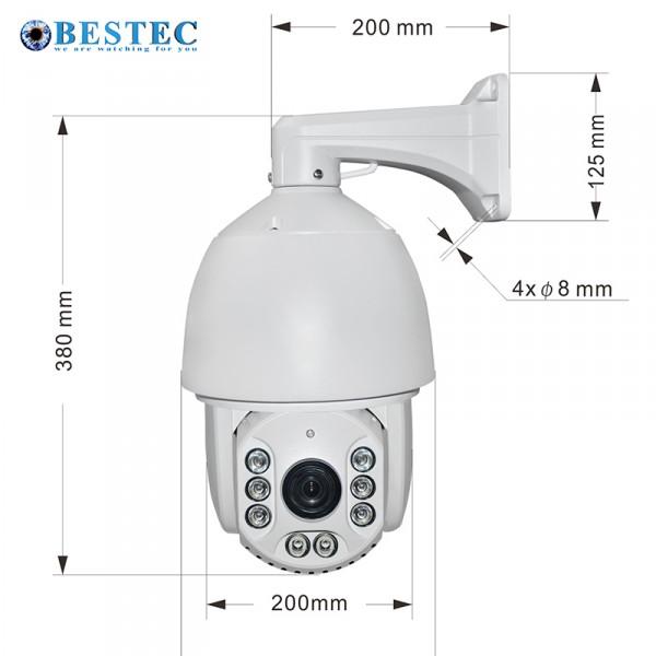 2.0MP AHD PTZ-Kamera Model:SMT-AH6RC-200